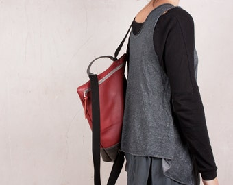 Leather backpack women, backpack purse, backpacks leather, zipper backpack, backpack bag, safe backpacks, travelling bag, handmade backpack
