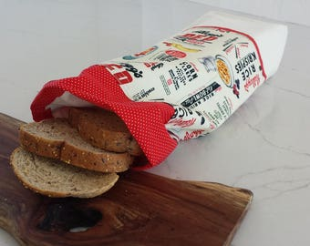 Bread bag, small, reversible bread bag.Rooster