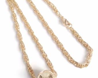 Dainty gold chain choker necklace, 5mm rope gold chain necklace, gold choker collar, gold choker chain, thick gold chain, Gargantilla Dorada