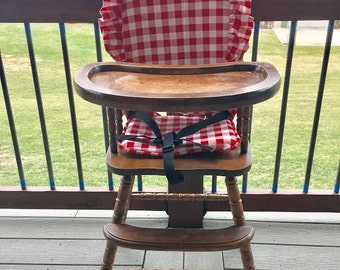 Delightful High Chair Cover. High Chair Pad. Highchair Cover. High Chair Cushion.  Wooden