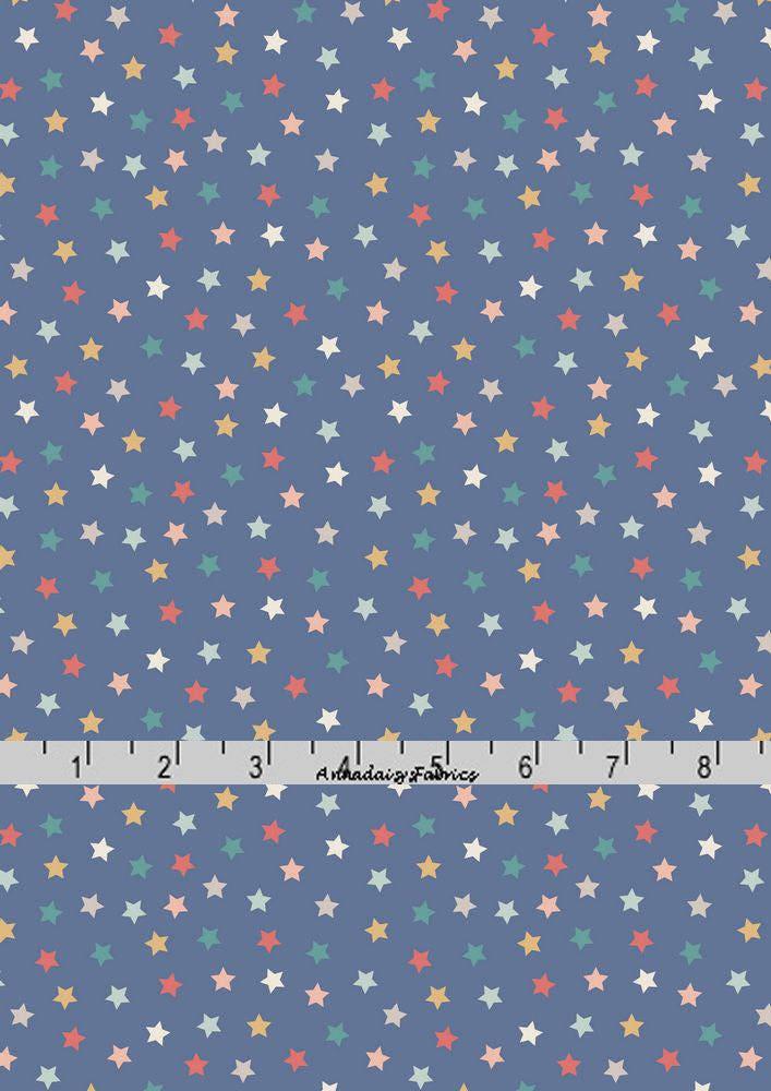 Blue stars fabric stars quilt fabric lewis irene for Star fabric australia