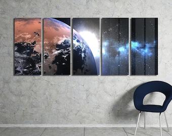 Unknown Planet Wall Art Metal Print Decor Ready to Hang