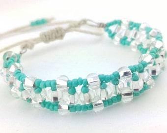 Beaded Hemp Bracelet, Beaded Jewelry, Handmade Jewelry, Adjustable Hemp Bracelet, Hemp Jewelry, Hemp Jewellery, Bracelet, Jewelry.