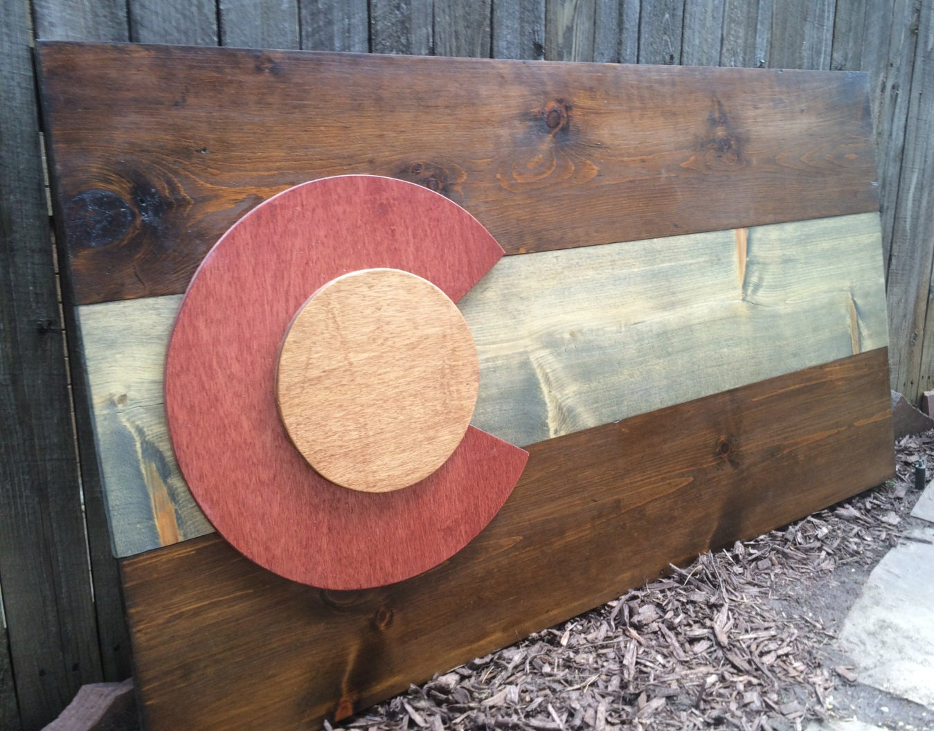 3D Rustic Colorado Flag, State flag, wall art, wall hanging, reclaimed wood - Colorado Flag Wood Etsy