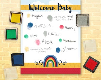 Oz Baby Shower - Thumbprint Guestbook