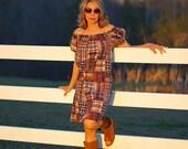 Vintage plaid dress. Size...