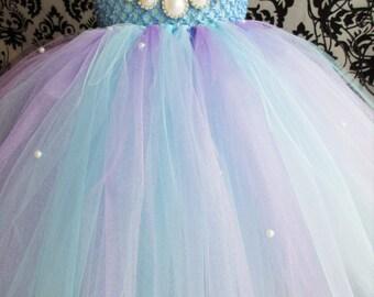 Aqua Empire Dress/Lavender Dress/Baby Blue Dress/Baby Outfit/Pearl Outfit/Baby girl dress/Girls dresses/Aqua Blue Lilac Dress/Birthday Dress
