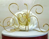 Personalized initials, wedding cake topper, wire topper, anniversary cake topper, handmade initials, name cake topper