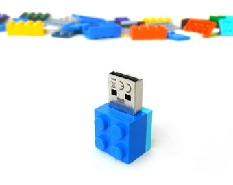 Lego usb flash drive 8GB USB - Lego usb brick - Lego usb, Lego® 2x2 Brick - Lego® usb in original piece - Blue Turquoise brick Original Lego