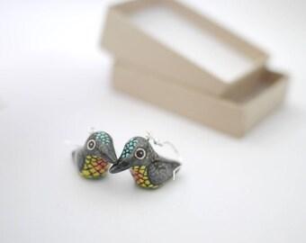 Fiery Throated Hummingbird Earrings