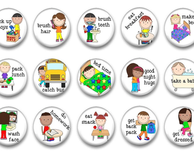 Visual Routine -.Autism Spectrum - Learning resources - Visual Supports - Learning difficulty - asd - PECS - Custom Communication