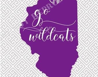 Northwestern University note card set, Northwestern stationery, Northwestern thank you notes, Wildcats