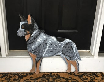 Australian Cattle Dog Outdoor Wood Decoration