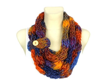 Extra Bulky Scarf Super Chunky Scarf Knit Snood Scarf Womens Knit Infinity Knitted Snood Gift Womens Winter Knit Snood Oversized Knitting