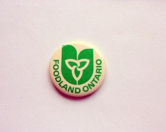 Foodland Ontario Pin Back, Fresh Produce Pin Back