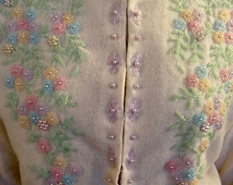 1950s Beaded Sweater - Great Condition!