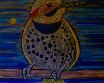 Flicker done in colored chalk