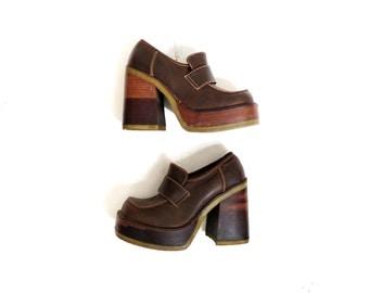 Stacked wood heel | Etsy