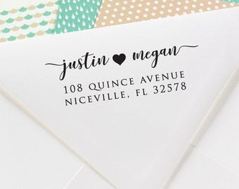 Return Address Stamp, Self Inking Address Stamp, Address Stamp, Wedding Address Stamp, Custom Address Stamp (S5509)