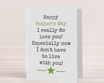 Funny Father's day card, Father's day card, funny card for dad, humorous fathers day card, Dads day card, Faather's day