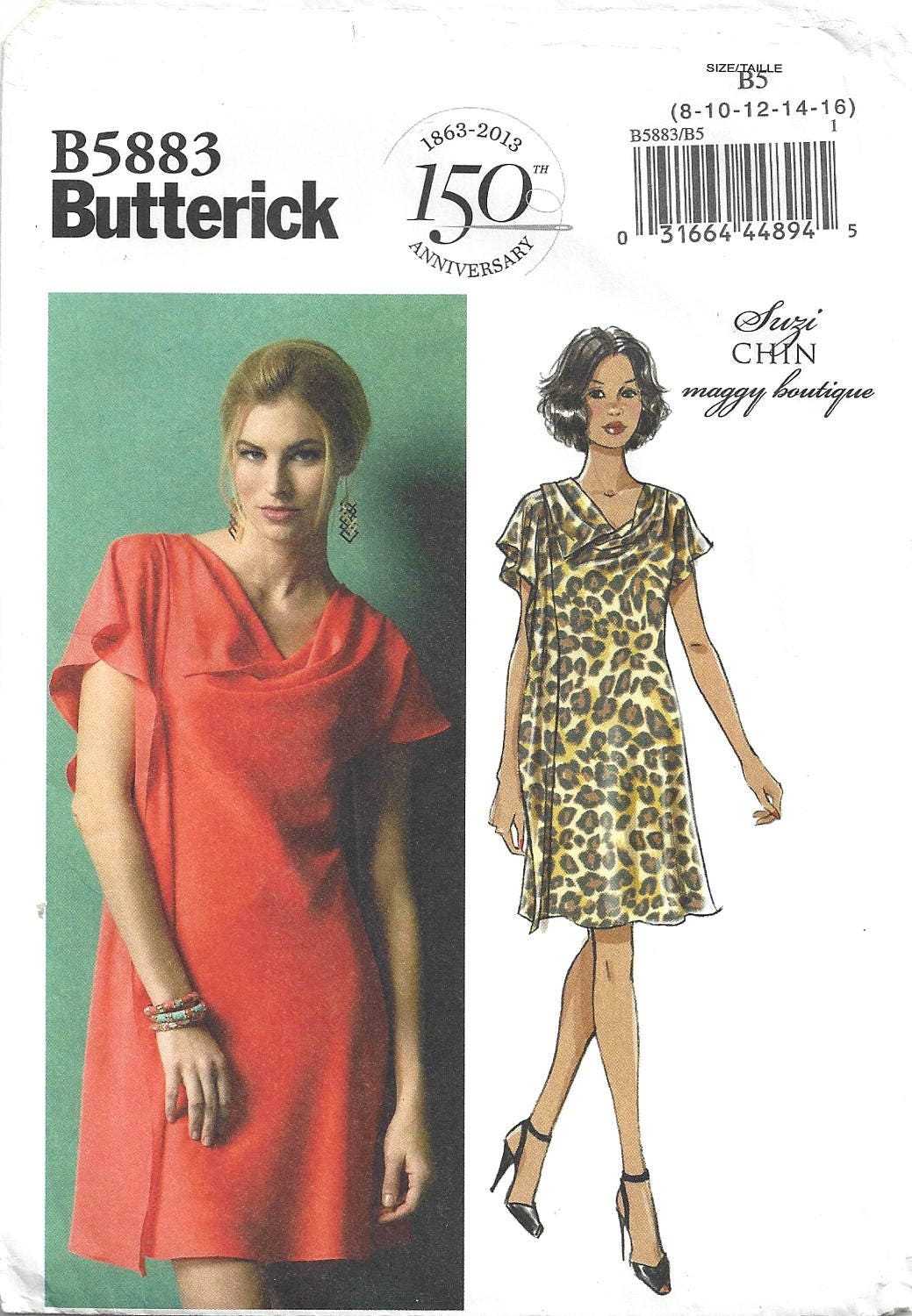 Butterick B5883 Sewing Pattern Suzi Chin for Maggy Boutique Misses Bias  Self Lined Pullover Dress sz 8 thru 16 Uncut from CrabandCrow on Etsy Studio c44e03adb
