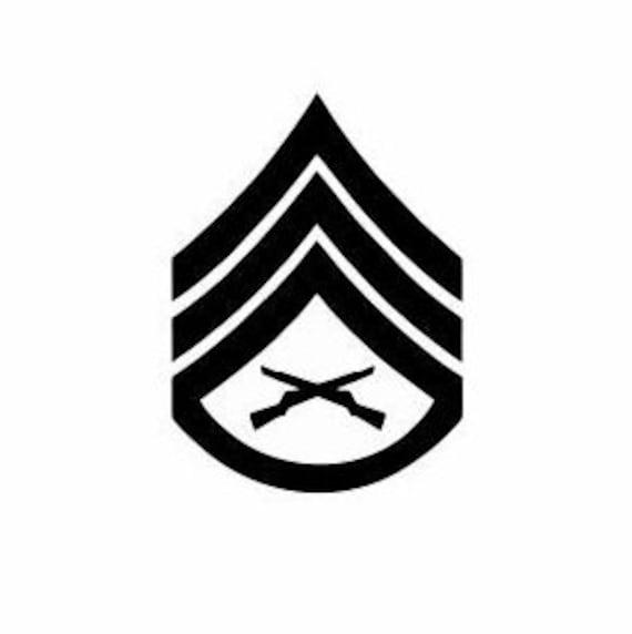 Staff Sergeant Marine Corps Chevron E-6: Sergeant Rank