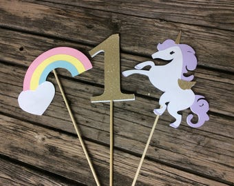 Unicorn Party Center Piece Sticks, Table Decorations, First Birthday, Baby Shower, Birthday Party, Rainbow Party