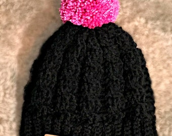 Crochet Cabled Beanie