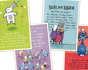 Cards with German Children's Songs