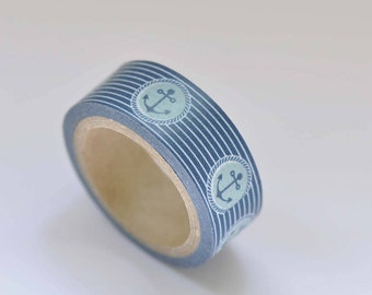 Anchor Washi Tape / Vintage Decorative Tape / Japanese Masking Tape 15mm wide x 5m long No. 12363