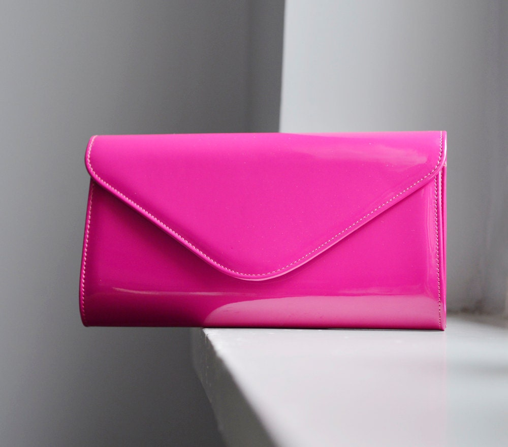 Mother's day SALE Fuchsia clutch Hot Pink purse Fuchsia