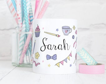 Personalised Crafter Mug - Those Who Make Collection - Gift for Makers