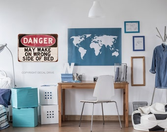 Teen Wall Decals   Teen Bedroom Decor   Danger Sign   Teen Boy Wall Art
