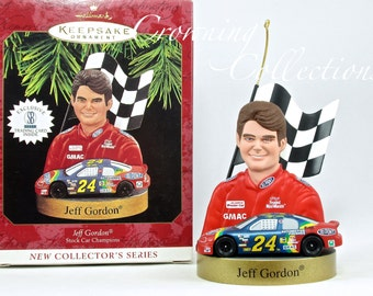 1997 Hallmark Jeff Gordon NASCAR Keepsake Ornament Stock Car Champions Series 1st in Series Racing First #1 Christmas Collection