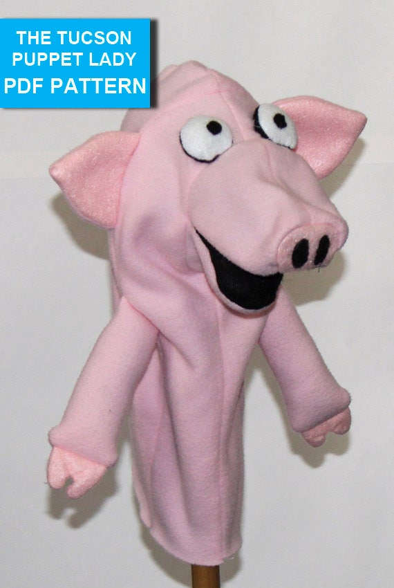 pig puppet template - pig hand puppet pattern with movable mouth