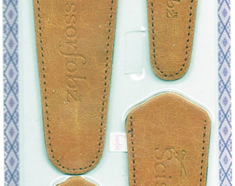 Scissors sheaths -VALUE PACK-4 sizes/pk- Designer Covers w/ScissorGripper Sewing Quilting. Antique look tan color. S-42. Free Shipping.