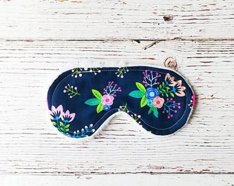 Sleep Mask - Eye Mask - Christmas In July - Floral Sleep Mask - Travel Sleep Mask - Gifts Under 20 - Party Favors - Bridesmaid Gifts