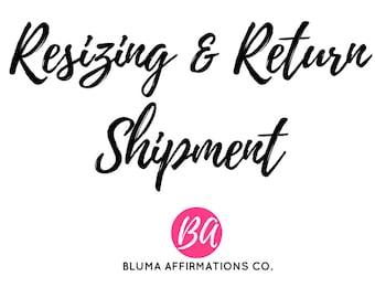 Resizing | Order Rework | Exchange | Return Shipment Fee