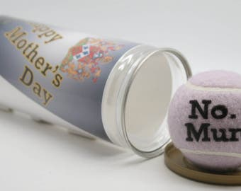 No. 1 Mum Printed Tennis Balls