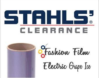 "15"" Stahls' Fashion-FILM Electric - Smooth - Craft Roll - Iron-on  Heat Transfer Vinyl - HTV -  Purple Grape Ice"