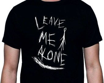 Slenderman T-shirt - Leave Me Alone, Ceepypasta, Various Sizes/Colours