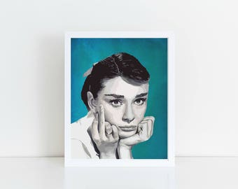 Audrey Hepburn, Aurdrey Wall Art, Printable Art, Printable Wall Art, Audrey Print, Audrey Poster, Audrey Style
