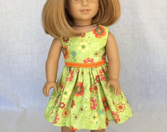 18 inch  doll dress - summer doll clothes - fits the American Girl, Our Generation and other 18 inch dolls.