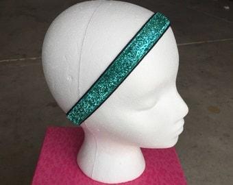 Teal Glitter Headband