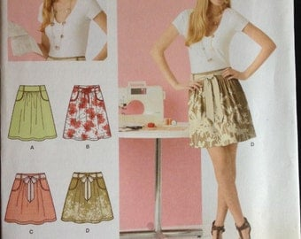 Simplicity 2226 - Learn to Sew Mini or Knee Length Skirt Collection - Size 6 8 10 12 14 16 18