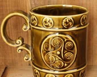 Innesfree Pottery Green Mug