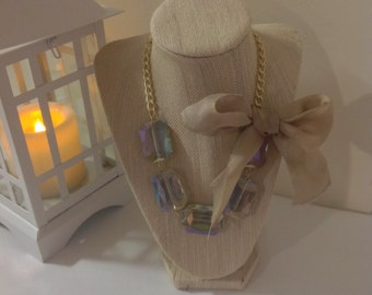 Jewel's Crystal Bow Statement Necklace