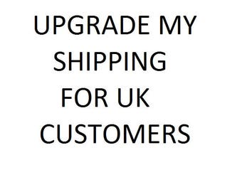 UPGRADE my shipping for UK customers - Add a tracked service to your order - Get delivery updates - signature required postal service