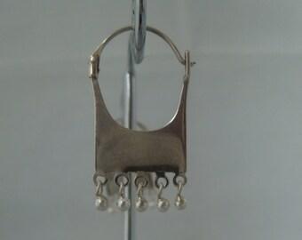 Sterling Silver Earrings, 925 stamped, hanging earrings