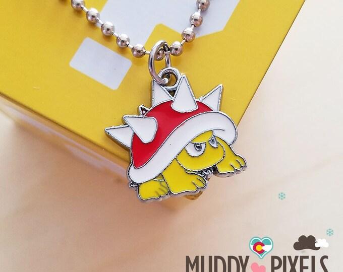 Mario Bros Necklace featuring Spiny